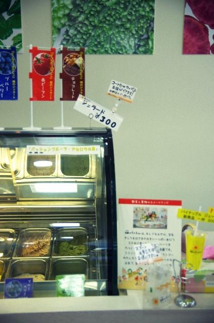 沖縄の道の駅でステキなジェラート屋さんみつけた。
