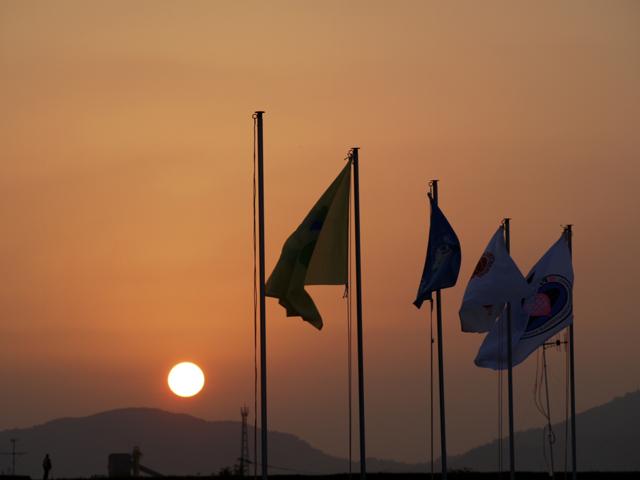 Sunset Time in Saga