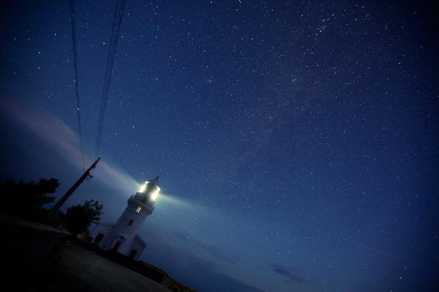 屋久島灯台と満天の星空