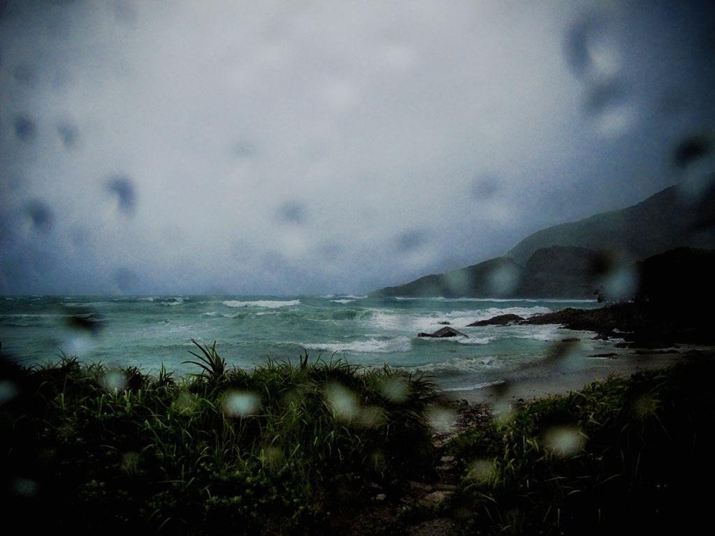 台風接近中の屋久島