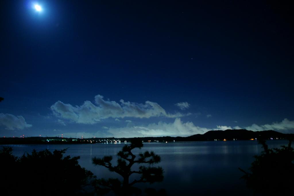 月夜の浜名湖 : 心が落ち着く ...
