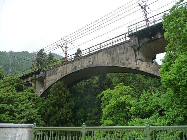 川井駅から見える鉄橋