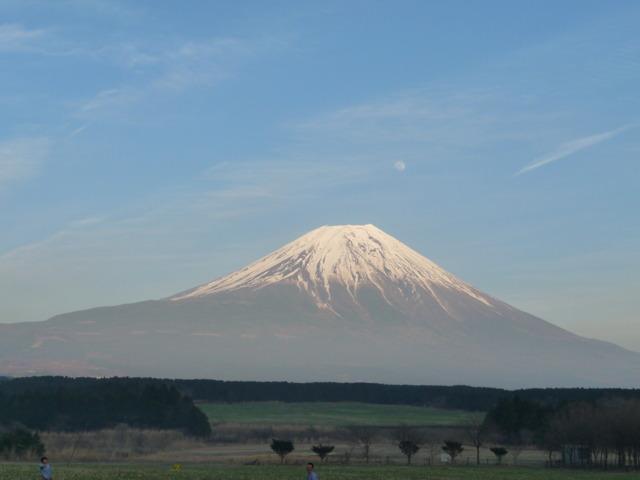 富士山と満月