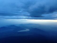 富士山9.5合目からの眺め
