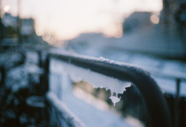 VOIGTLANDER(フォクトレンダー)のカメラ Bessa-R2Aで撮影した風景(雪の日の都内)の写真(画像)