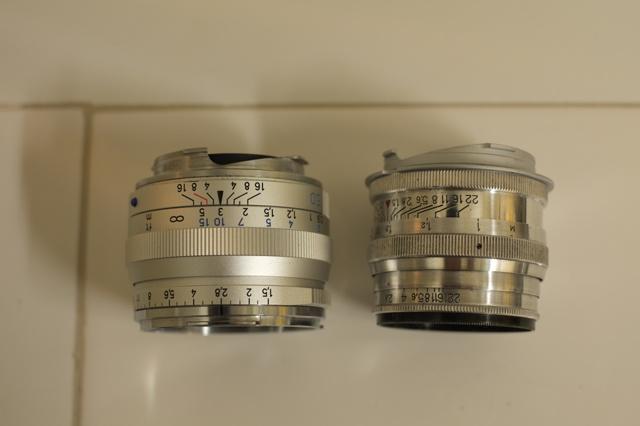 新旧ゾナー:鏡筒部分の画像(写真)