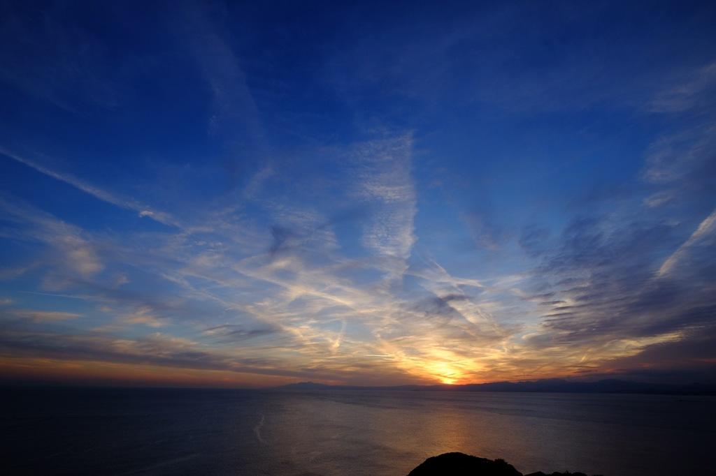 江の島展望灯台からの夕日