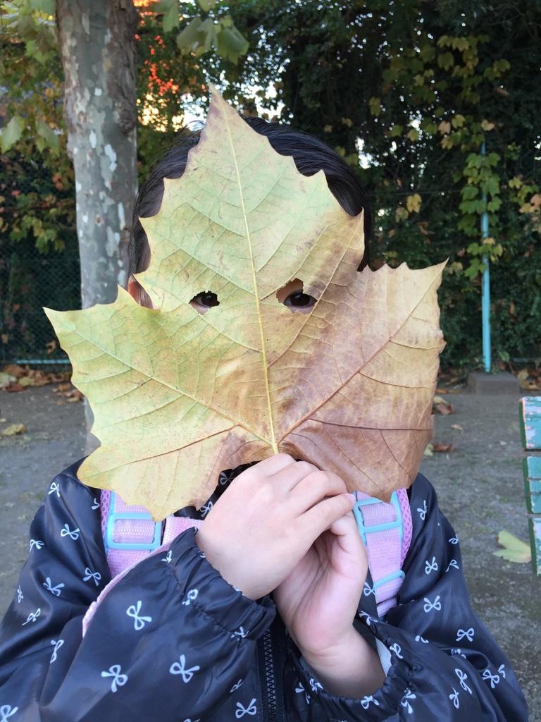 葉っぱ仮面