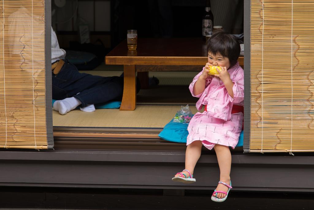 奈良井宿で出会った子