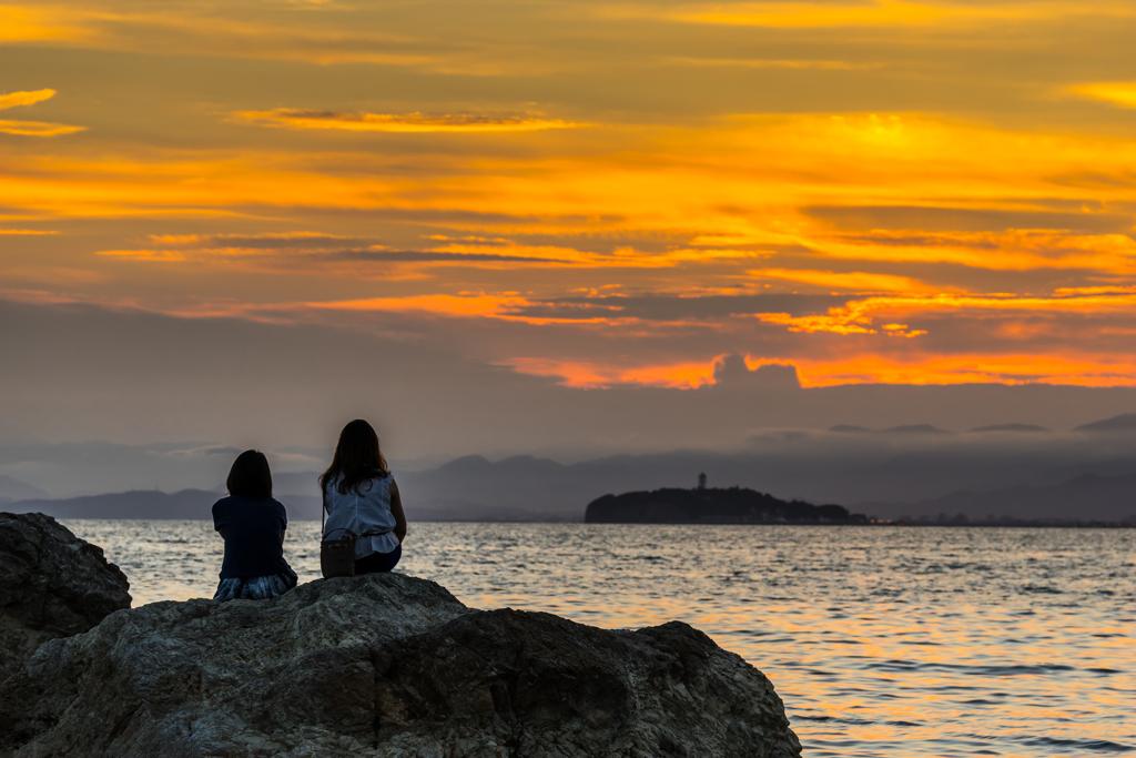 日没の江の島
