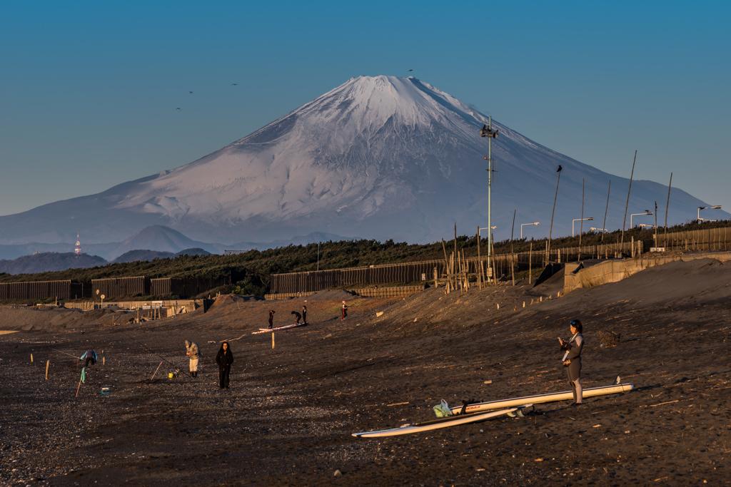 早朝の富士