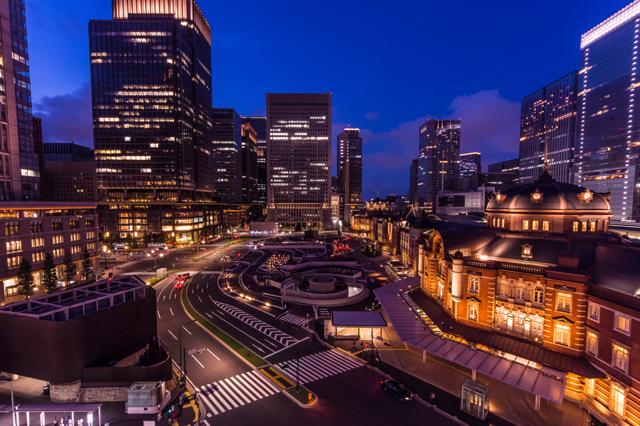 超広角で撮る東京駅