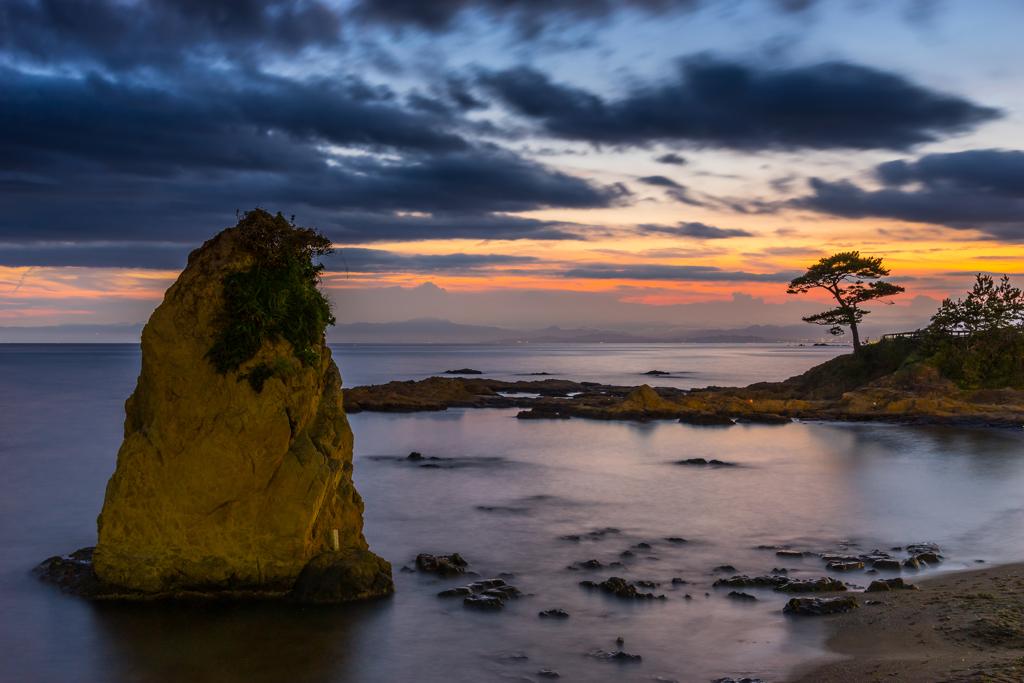 夏の夕暮れ立石海岸