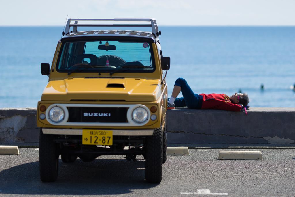 七里ヶ浜 お昼寝