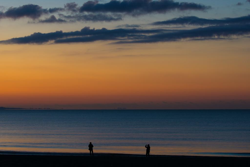 茅ヶ崎ヘッドランドの夜明け前
