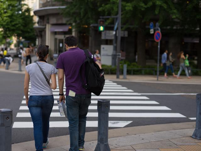 横浜でみかけた外人さんカップル