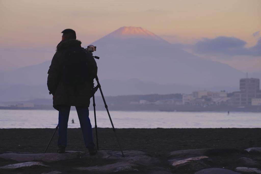 夜明けのカメラマン