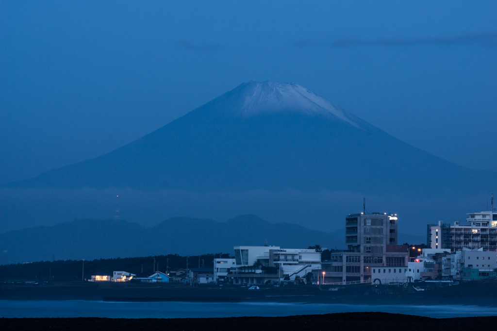 夜明け前富士