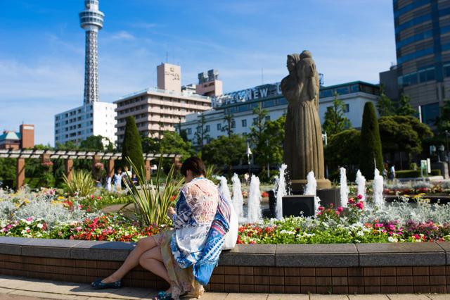 横浜的美女