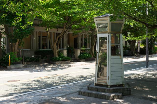 横浜山手の電話ボックス