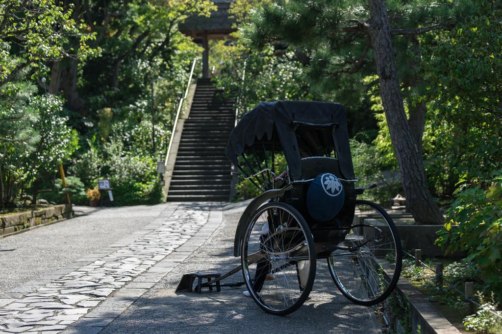 東慶寺の人力車