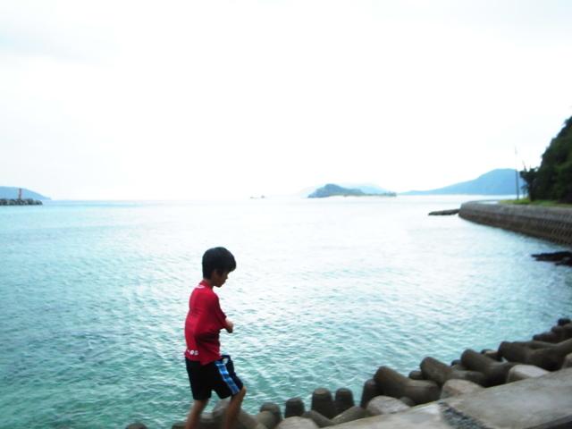 海辺と少年