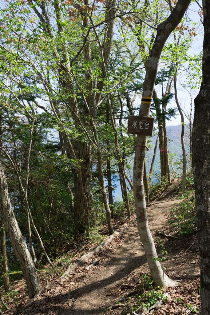 本栖湖展望台登山道