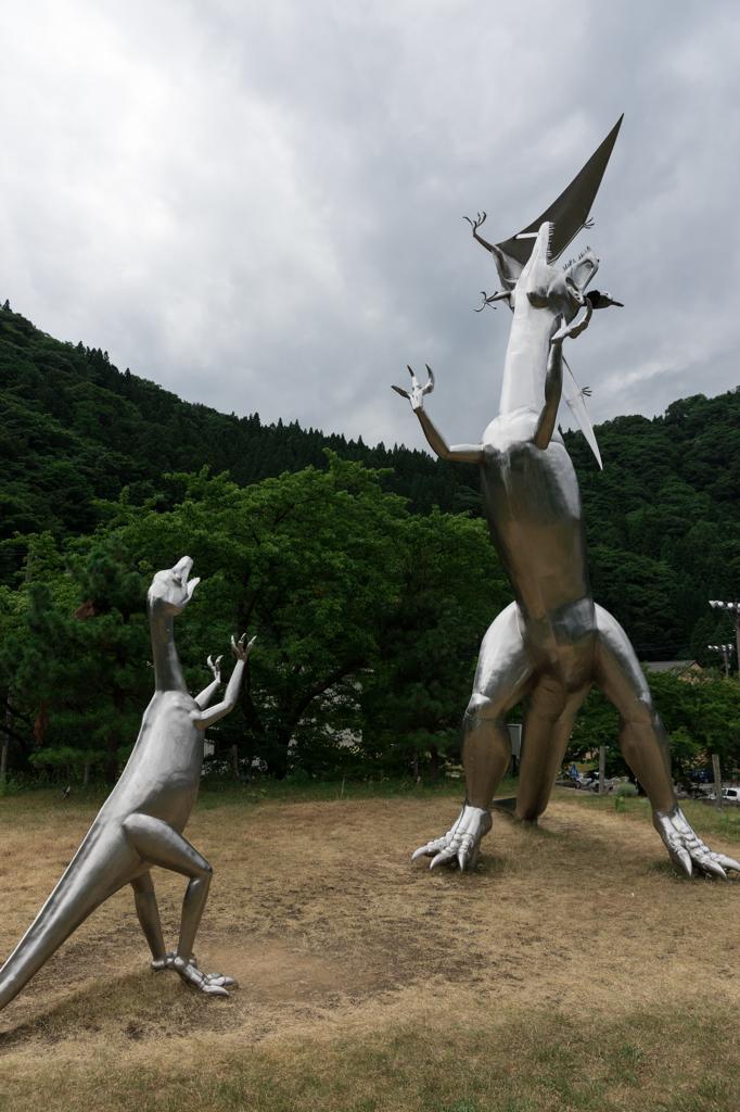 深山温泉の恐竜