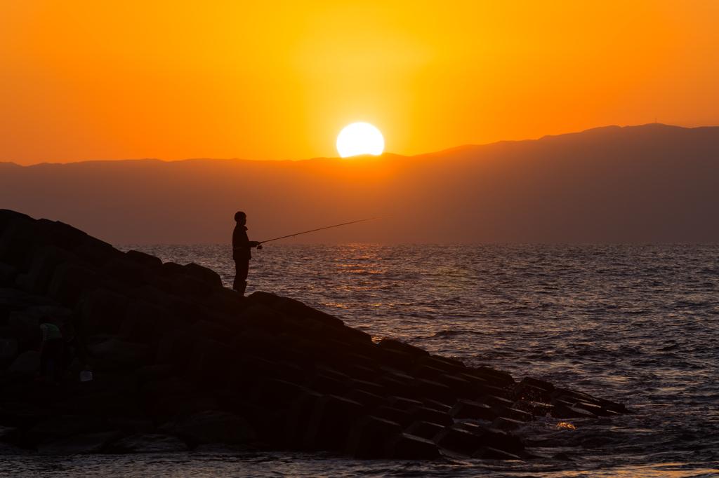 ヘッドランドの釣り師