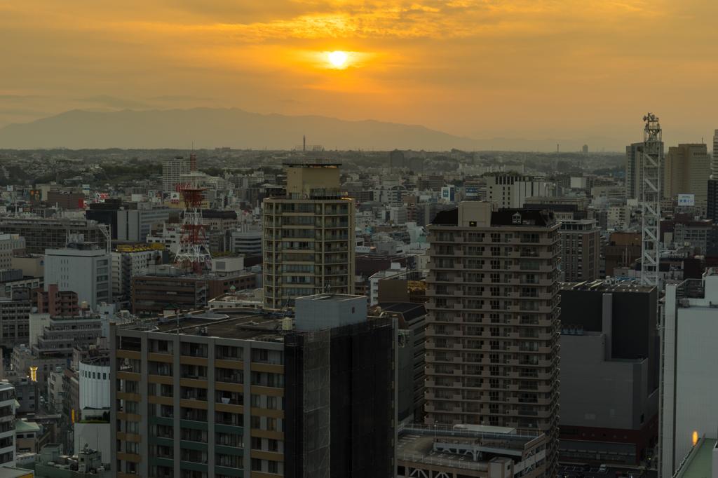 マリンタワーから夕景