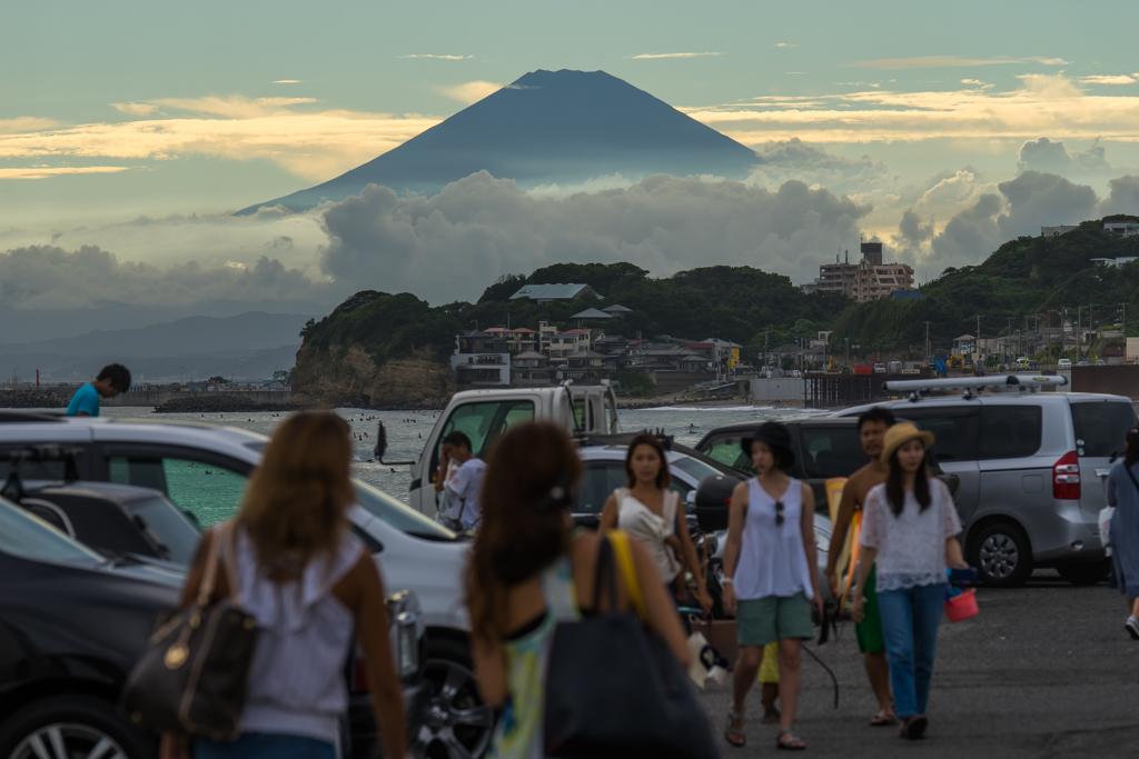 夏の湘南から富士山が見えた日