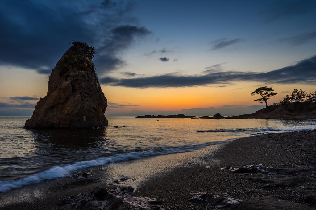 立石 夕景