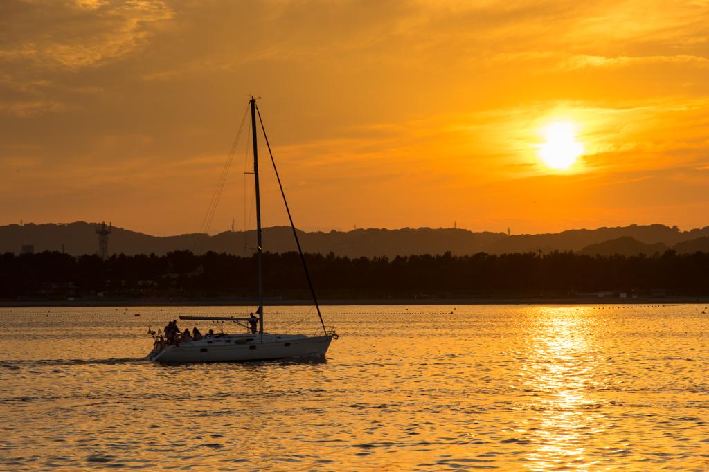八景島夕陽