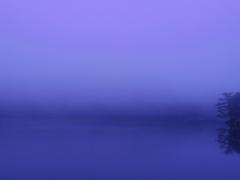 霧の松原湖