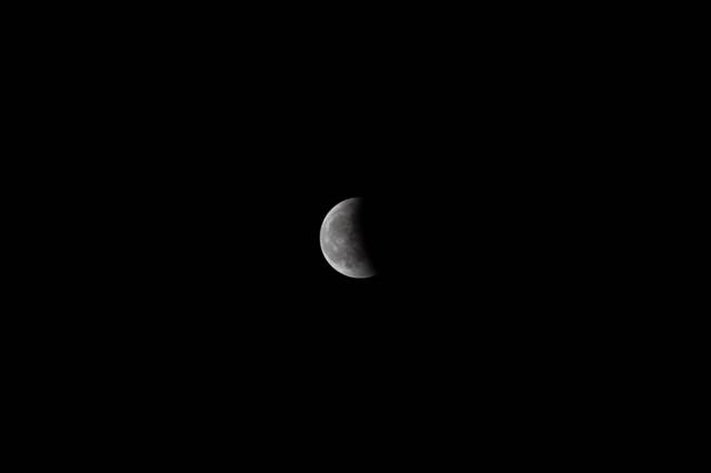 皆既月食、その後(2014年10月8日)