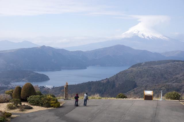 富士山を臨む@MAZDAスカイラウンジ